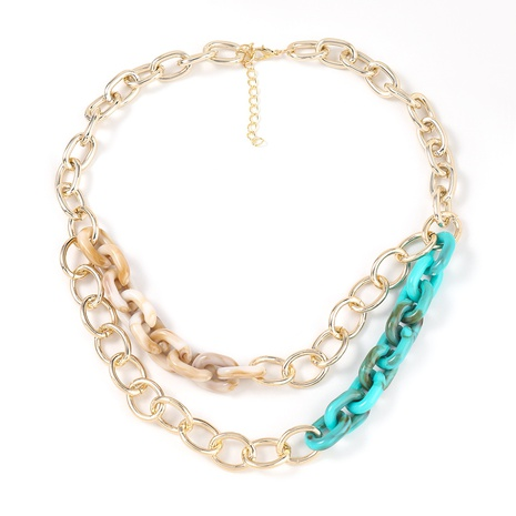 fashion Acetate sheet double-layer necklace NHJE322127's discount tags
