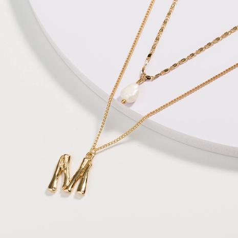 collier de perles naturelles à chaîne multicouche à la mode NHAN322154's discount tags