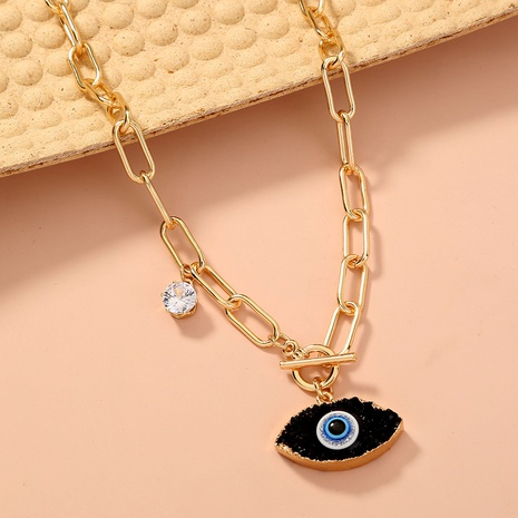 fashion creative imitation natural stone Devil's eyes necklace NHAN322159's discount tags