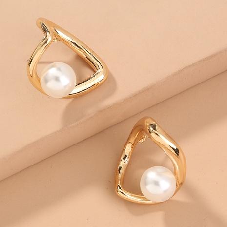 fashion hollow love pearl earrings NHAN322173's discount tags
