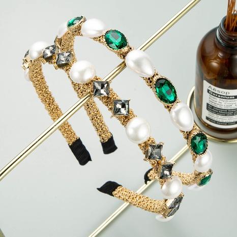 Koreanisches Retro-Perlen-Strass-Stirnband NHLN322189's discount tags