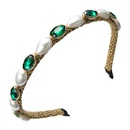 Korean retro pearl rhinestone headband NHLN322189