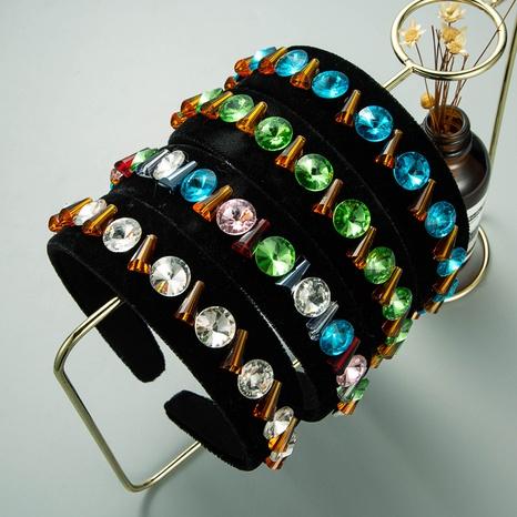 serre-tête diamant en verre incrusté de flanelle baroque NHLN322199's discount tags