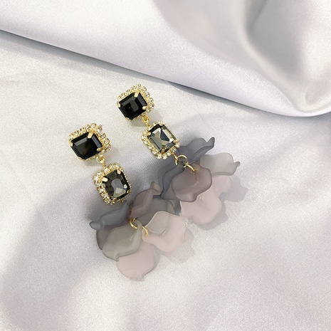 fashion acrylic petal earrings   NHXI322213's discount tags
