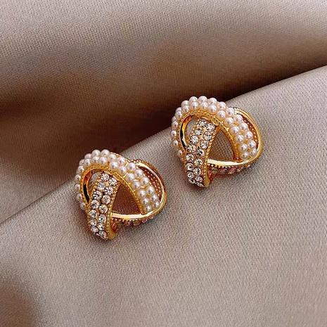 fashion cross pearl earrings wholesale NHXI322229's discount tags