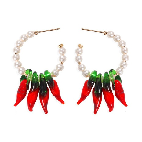 fashion red pepper pendant acrylic earrings NHJQ322236's discount tags