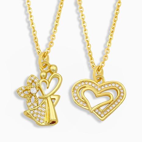 collier simple en forme de cœur NHAS322239's discount tags