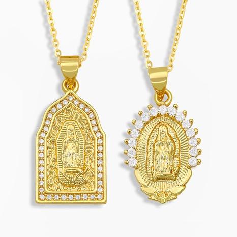 Mode Mutter Gottes Zirkonia besetzte Halskette NHAS322240's discount tags