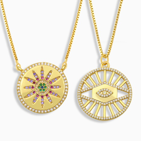 collier rond tournesol zircon coloré micro-incrusté NHAS322241's discount tags