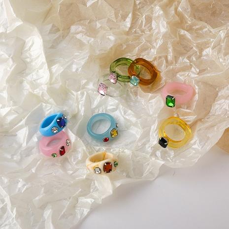 bague en résine acrylique diamant rétro NHMS322249's discount tags
