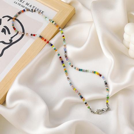 Collier simple en cristal de couleur coréenne NHMS322257's discount tags
