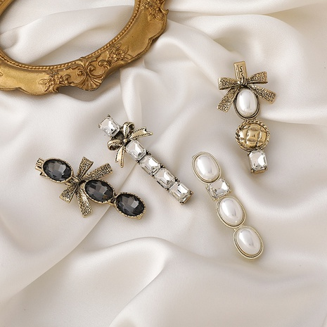 retro fashion bow pearl hairpin  NHMS322261's discount tags