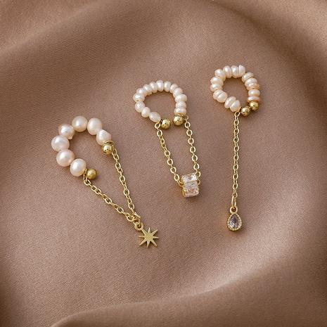Korean pearl tassel ear bone clip  NHMS322269's discount tags