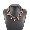 collier de fiole de hanche de vase de portrait de mode NHMD322282