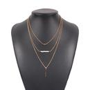 new fashion multilayer geometric pendant beaded necklace NHMD322300