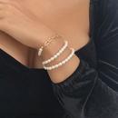 fashion imitation pearl long necklace NHMD322302