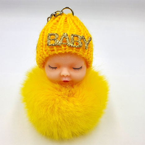 fashion imitation rex rabbit fur cute sleeping doll keychain NHDI322316's discount tags