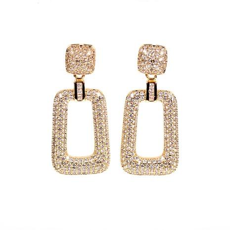 boucles d'oreilles à pendentif géométrique diamant NHPY322319's discount tags