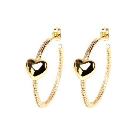 Vente en gros boucles d'oreilles en diamant coeur rétro NHPY322329's discount tags