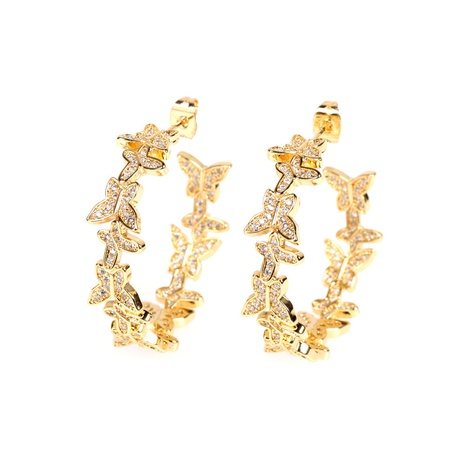wholesale butterfly diamond earrings  NHPY322330's discount tags