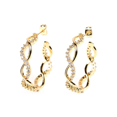 wholesale 8-shaped buckle earrings  NHPY322331's discount tags