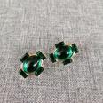 NHOM1489154-Green-Silver-Needle-Stud-Earrings-1.72.1cm