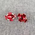 NHOM1489155-Red-silver-needle-earrings-1.72.1cm