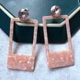 NHOM1489159-Rectangle-pink-stud-earrings