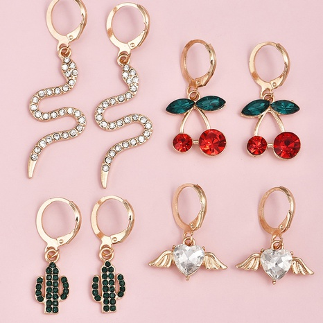 Fashion Korean Sweet Fruit Earrings NHAJ322581's discount tags
