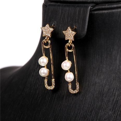 retro fashion pearl earrings wholesale NHPY322320's discount tags