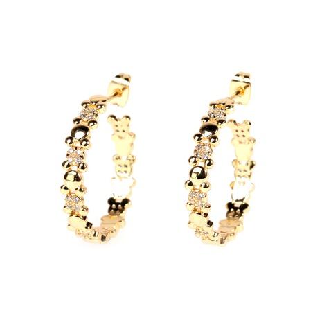 boucles d'oreilles rétro en diamant en forme de C NHPY322324's discount tags