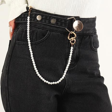 cadena de cintura de perlas de imitación simple NHNZ322336's discount tags