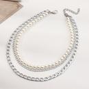 collier de perles punk multicouche  chane paisse NHNZ322338