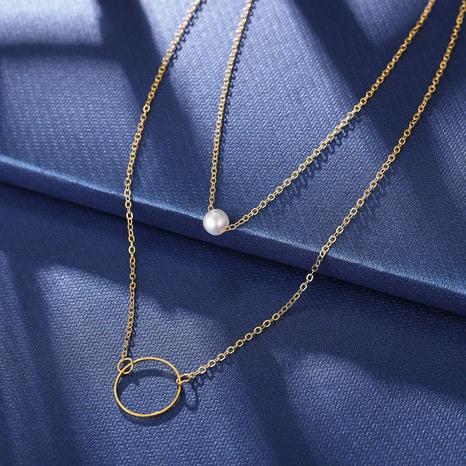 Collier de perles rétro cercle double épaisseur NHPJ322348's discount tags