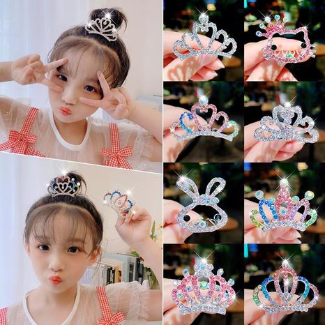 Épingle à cheveux en strass coréen peigne diamant couronne NHNA322368's discount tags