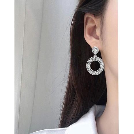 boucles d'oreilles rondes rétro cloutées de diamants NHCT322369's discount tags