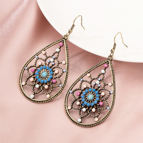 retro bohemian style flower earrings  NHAI322380's discount tags
