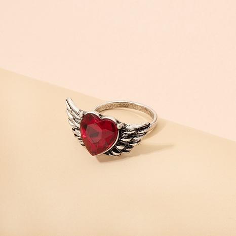 Korean simple fashion love wings ring NHAI322379's discount tags