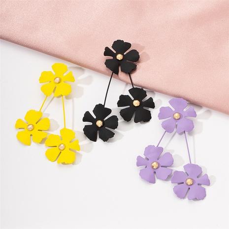 Boucles d'oreilles fleurs coréennes en gros NHAI322384's discount tags