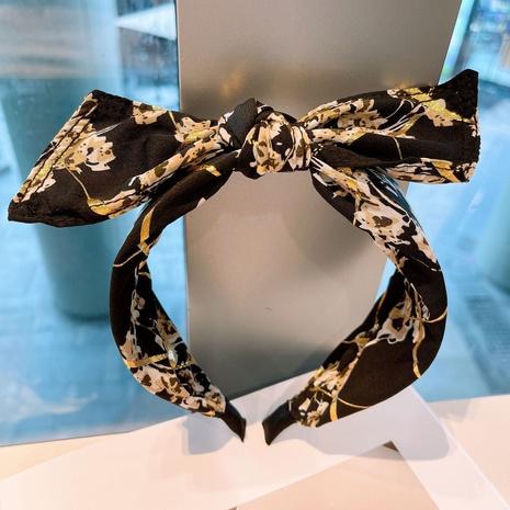Retro einfache Schleife Blumen Chiffon Stirnband NHHD322399's discount tags