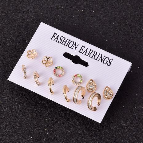 Nouvel ensemble de boucles d'oreilles géométriques simples coréennes NHSD322413's discount tags