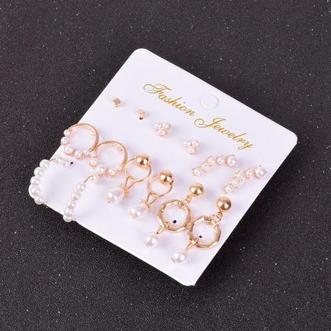 Boucles d'oreilles géométriques simples coréennes en gros NHSD322415's discount tags