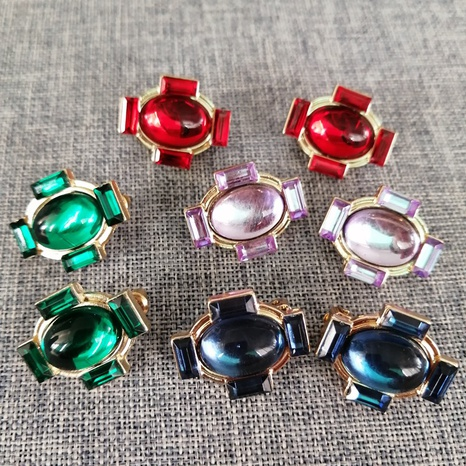 simple fashion Colored Resin Earrings NHOM322421's discount tags