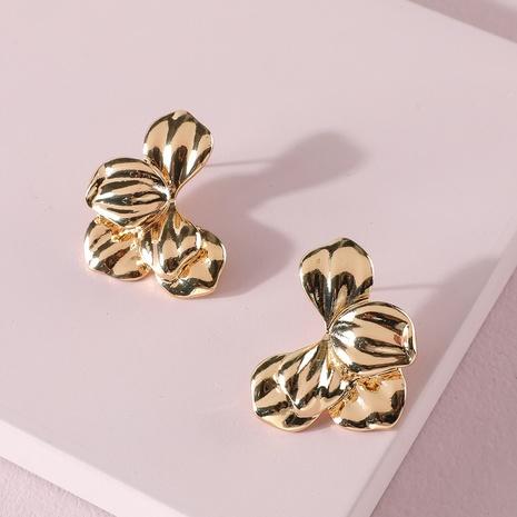 Boucles d'oreilles exagérées de fleurs de pétales d'alliage de mode NHLU322437's discount tags