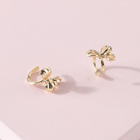 Clip de oreja exagerado de flores de pétalos de aleación de moda NHLU322457's discount tags