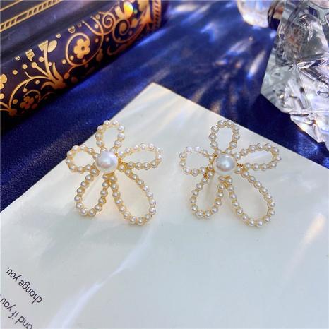 Boucles d'oreilles de mode rétro fleur coréenne NHVA322477's discount tags