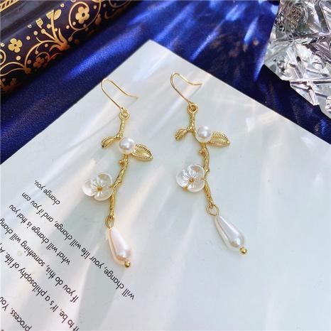 Boucles d'oreilles à pampilles de fleurs simples de Corée NHVA322484's discount tags