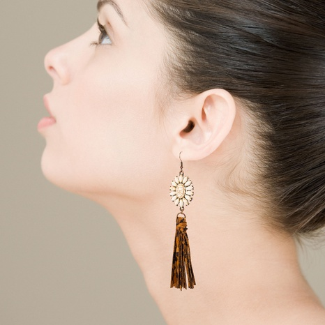 bohemian white turquoise earrings  NHLN322500's discount tags