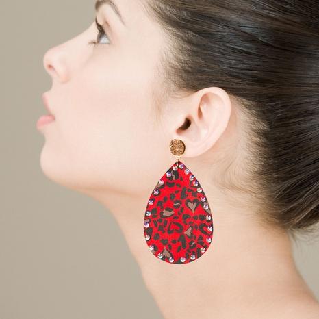 bohemian drop-shaped rhinestones earrings   NHLN322496's discount tags