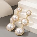 new retro pearl long tassel diamond earrings NHGY322505